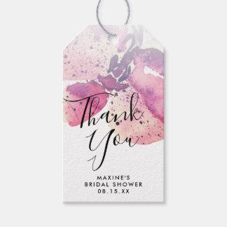Etiqueta Para Presente Obrigado personalizado orquídea da aguarela da