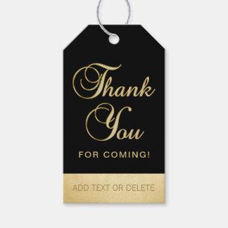 Etiqueta Para Presente OBRIGADO preto personalizado do ouro VOCÊ PARA o