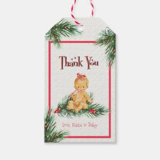Etiqueta Para Presente Obrigado que do chá de fraldas do inverno do bebé
