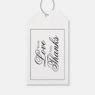 Etiqueta Para Presente Obrigado que preto e branco elegante do casamento