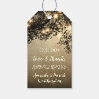 Etiqueta Para Presente Obrigado que rústico do casamento do ramo de