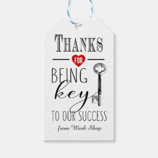 Etiqueta Para Presente obrigado sendo chave a nosso sucesso adicionam o