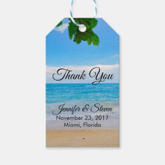 Etiqueta Para Presente Obrigado tropical do casamento da ilha das férias
