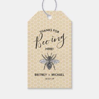 Etiqueta Para Presente Obrigados engraçados para da Abelha-ing a abelha