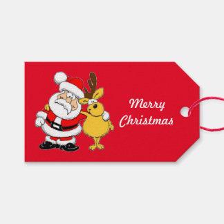 Etiqueta Para Presente Oh Tag do presente do Feliz Natal dos cervos