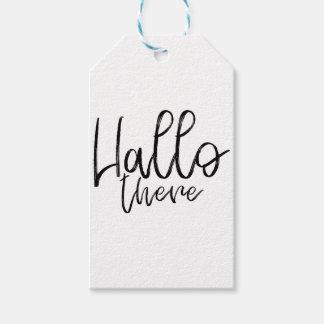 Etiqueta Para Presente Olá! palavras lá de fala