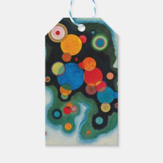 Etiqueta Para Presente Óleo aprofundado do abstrato do impulso em canvas