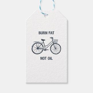 Etiqueta Para Presente Óleo da gordura da queimadura da bicicleta não