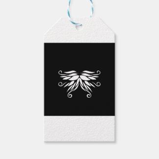 Etiqueta Para Presente Ornamento brancos pretos do Nordic de Sibéria