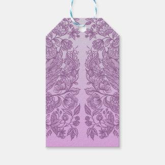 Etiqueta Para Presente Ornamento cor-de-rosa empoeirado