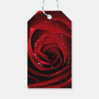 Etiqueta Para Presente Orvalho floral das flores das pétalas cor-de-rosa