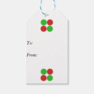 Etiqueta Para Presente Os doces de Pixelated pontilham o Tag do presente