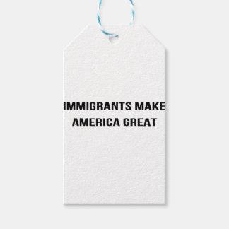 Etiqueta Para Presente Os imigrantes fazem o excelente de América -
