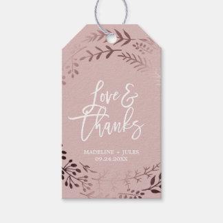 "Etiqueta Para Presente Ouro cor-de-rosa elegante e do ""casamento"