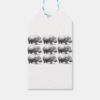 Etiqueta Para Presente ouro do hippopotamus