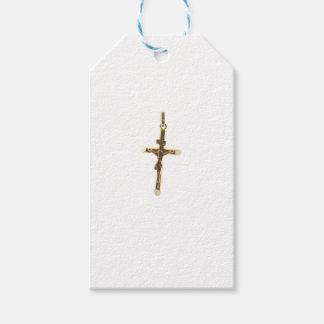 Etiqueta Para Presente Ouro transversal do Jesus Cristo horizontal