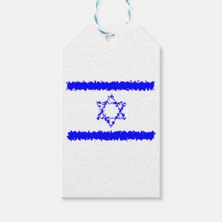 Etiqueta Para Presente País do azul de Israel das bandeiras