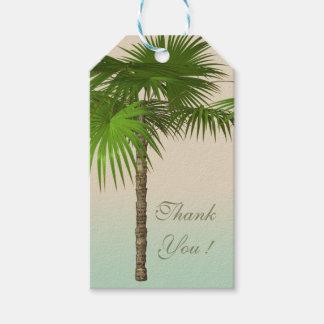 Etiqueta Para Presente Palmeira tropical romântica
