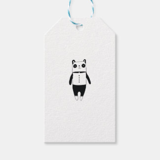 Etiqueta Para Presente Panda preto e branco pequena