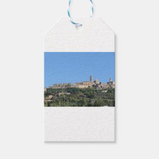 Etiqueta Para Presente Panorama da vila de Volterra, província de Pisa