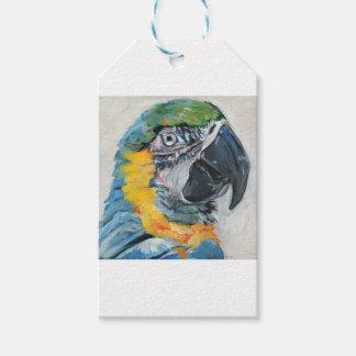 Etiqueta Para Presente Papagaio azul