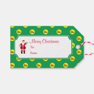 Etiqueta Para Presente Papai noel do Natal & velas do Tag do presente