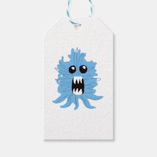 Etiqueta Para Presente Papel de envolvimento azul do monstro