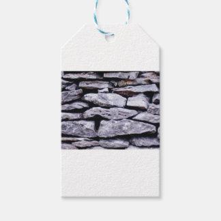 Etiqueta Para Presente parede empilhada da rocha