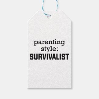 Etiqueta Para Presente Parentalidade do Survivalist