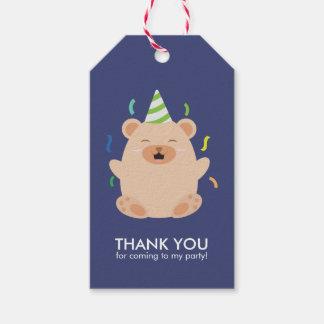 Etiqueta Para Presente Partido de aniversário de criança adorável do urso