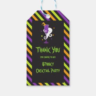Etiqueta Para Presente Partido de cocktail assustador do Dia das Bruxas