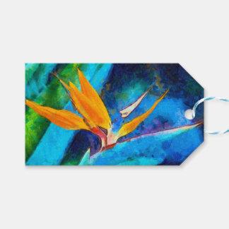 Etiqueta Para Presente pássaro da flor de paraíso