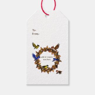 Etiqueta Para Presente Pássaros do outono