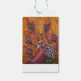 Etiqueta Para Presente Pavão cor-de-rosa