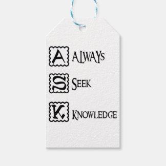 Etiqueta Para Presente Peça, procure sempre o conhecimento