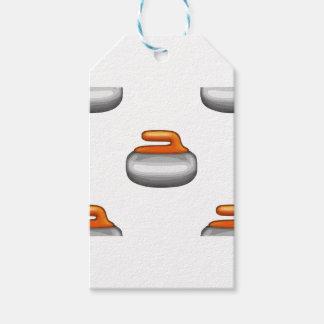 Etiqueta Para Presente Pedra de ondulação de Emoji