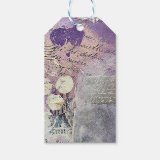 Etiqueta Para Presente Pétalas violetas - coleção