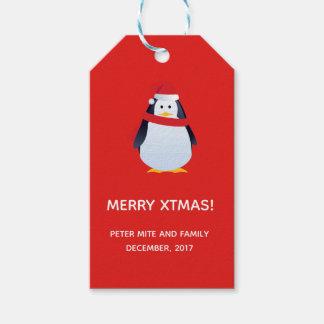 Etiqueta Para Presente Pinguim para presentes de Xtmas