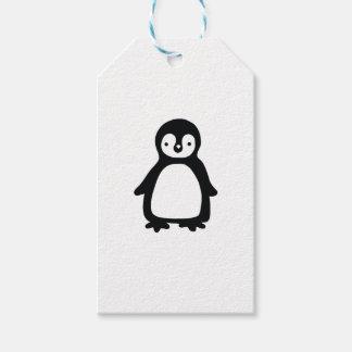 Etiqueta Para Presente Pinguin preto e branco simples