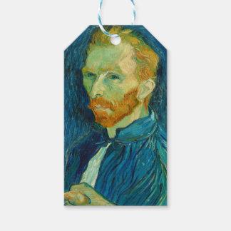 Etiqueta Para Presente Pintura 1889 do retrato de auto de Vincent van
