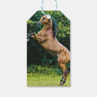 Etiqueta Para Presente Pintura árabe do cavalo
