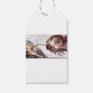Etiqueta Para Presente Pintura original de Michelangelo na capela Roma do