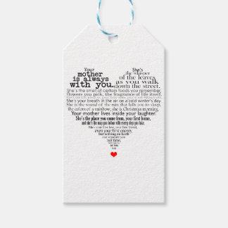 Etiqueta Para Presente Poema do dia das mães