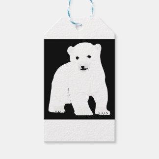 Etiqueta Para Presente PolarBearCubBlackSF