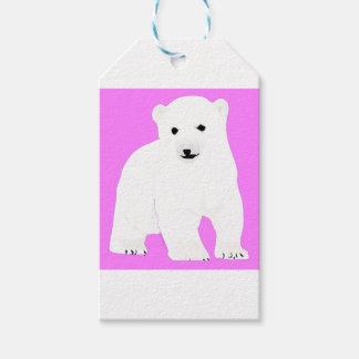 Etiqueta Para Presente PolarBearCubPinkSF