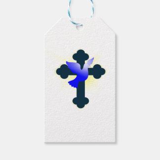 Etiqueta Para Presente Pomba e cruz