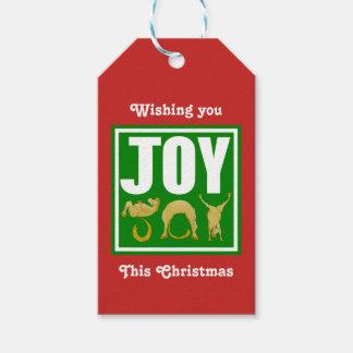 Etiqueta Para Presente Pôneis do Natal da alegria