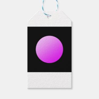 Etiqueta Para Presente Pontos cor-de-rosa no preto