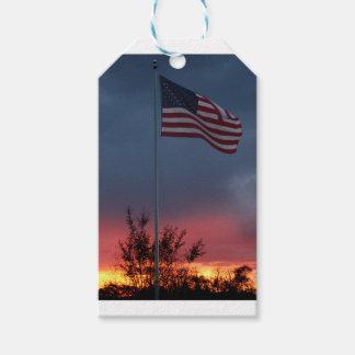 Etiqueta Para Presente Por do sol e bandeira de Tennessee