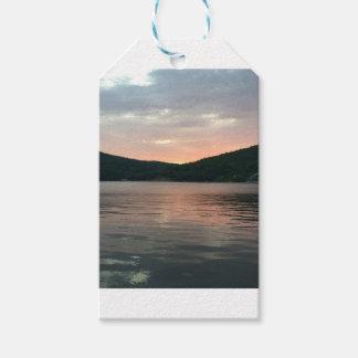 Etiqueta Para Presente Por do sol na água